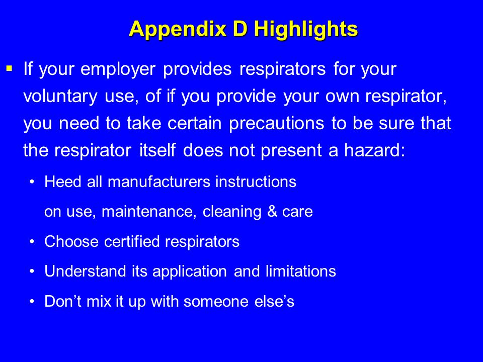 Appendix D Highlights