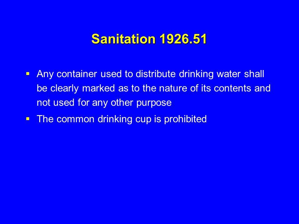 Sanitation 1926.51