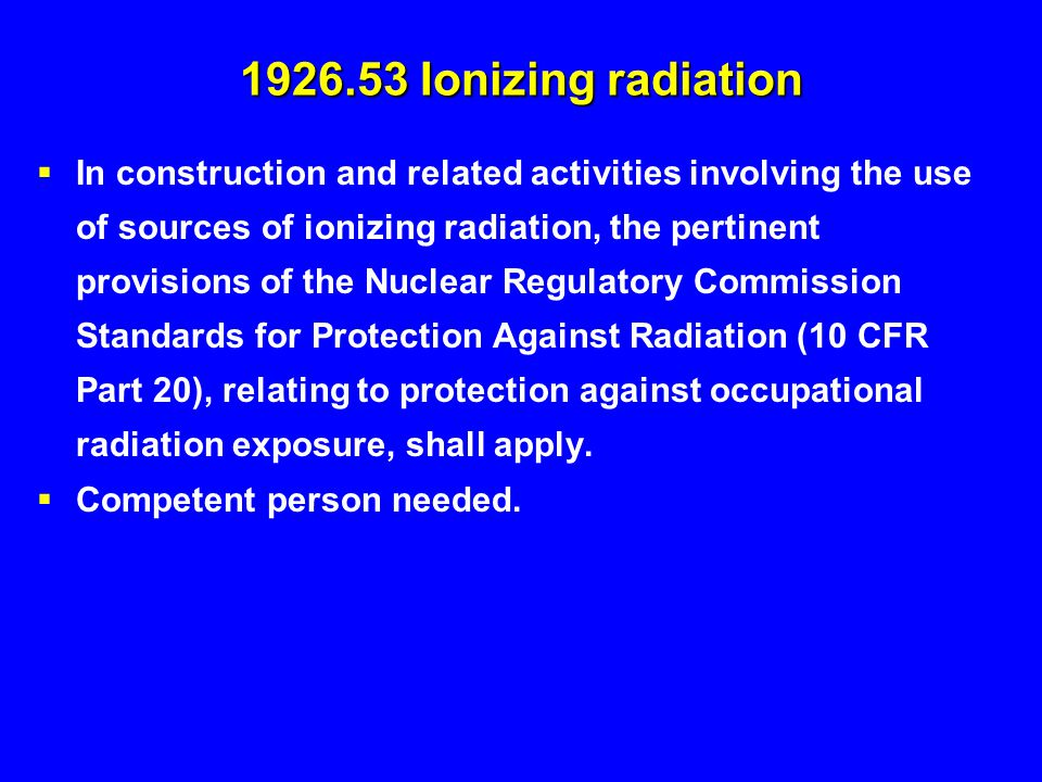 1926.53 Ionizing radiation
