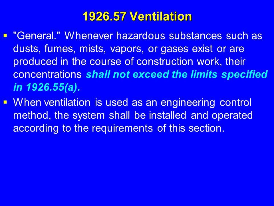 1926.57 Ventilation