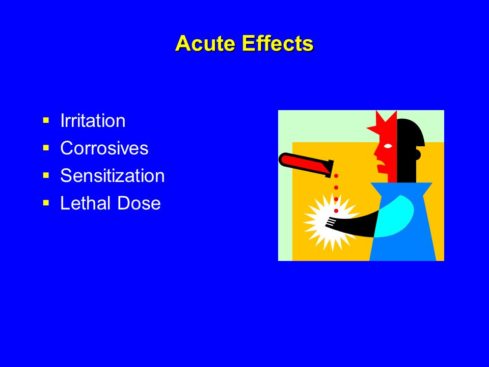 Acute Effects Irritation Corrosives Sensitization Lethal Dose