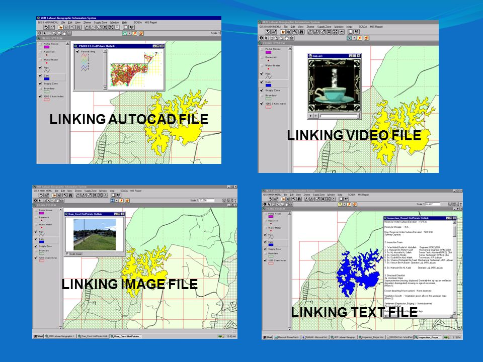 LINKING AUTOCAD FILE LINKING VIDEO FILE LINKING IMAGE FILE LINKING TEXT FILE