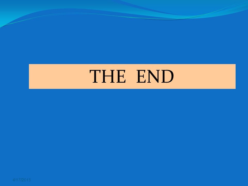 THE END 4/11/2017