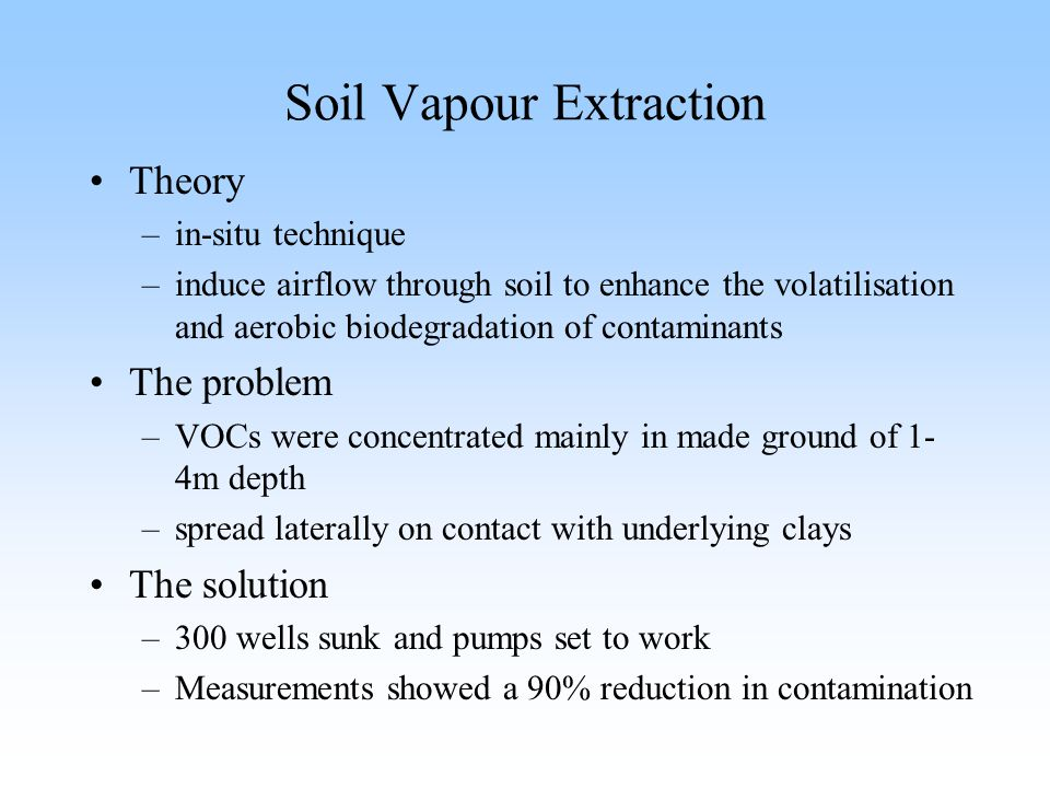 Soil Vapour Extraction