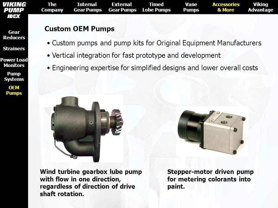 Custom pumps and pump kits for Original Equipment Manufacturers