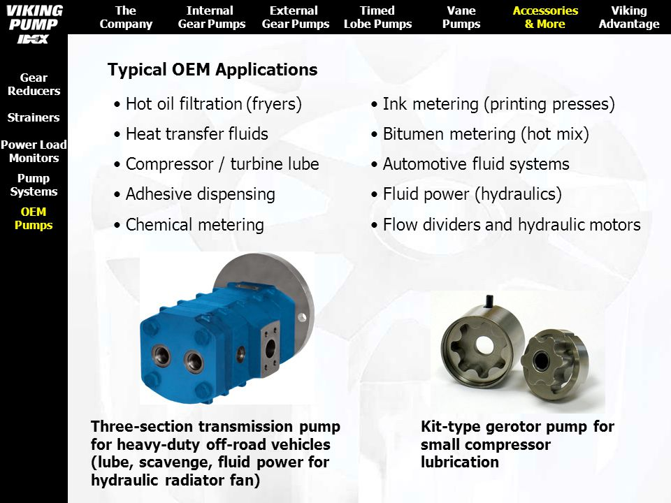 Typical OEM Applications