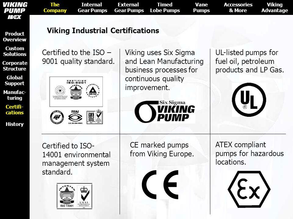 Viking Industrial Certifications