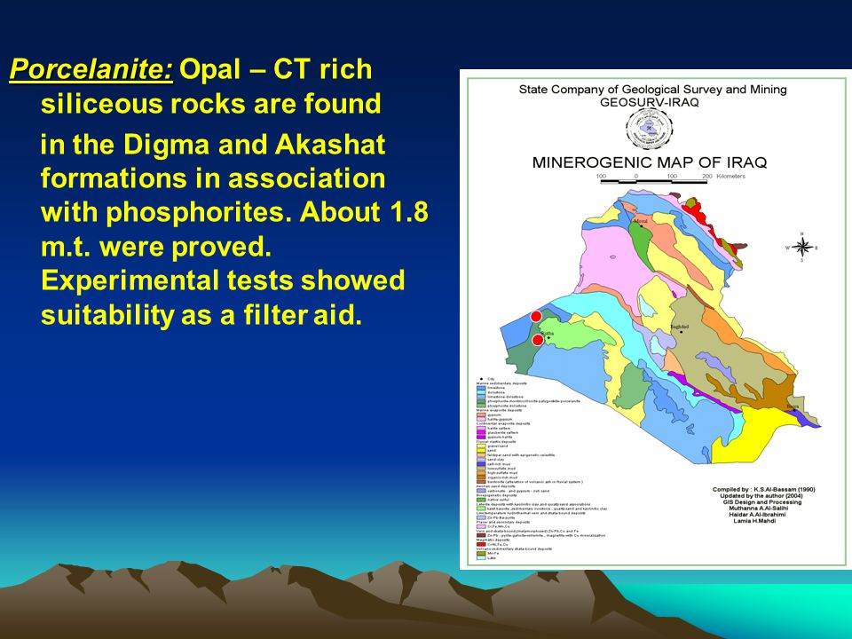 Porcelanite: Opal – CT rich siliceous rocks are found