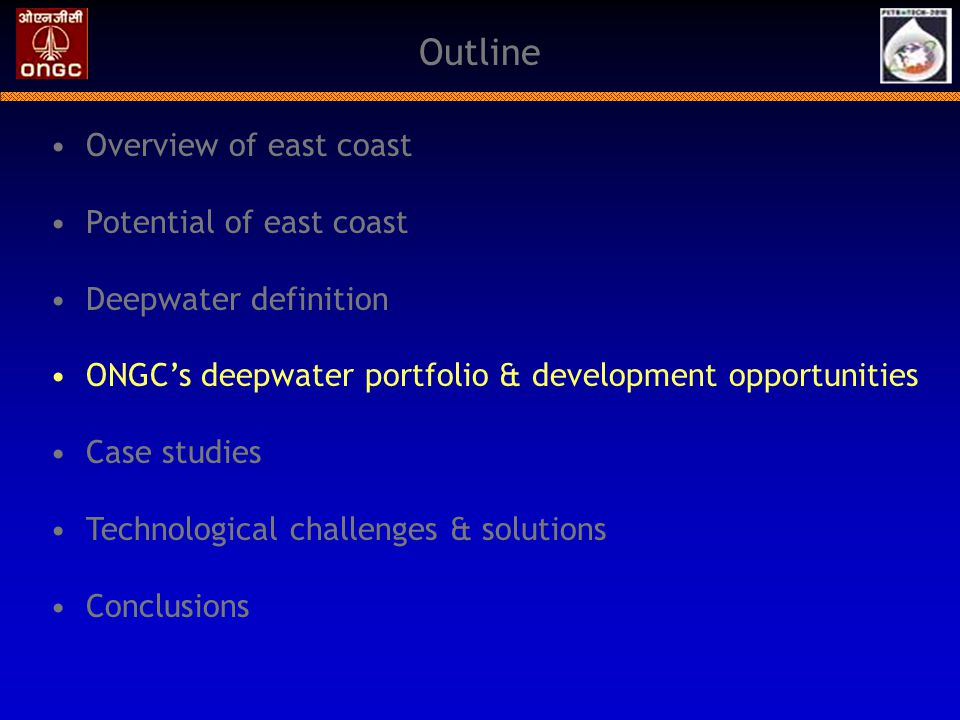 Outline Overview of east coast Potential of east coast