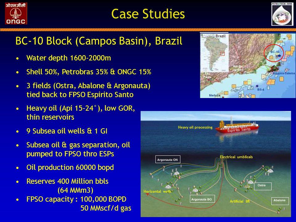 Case Studies BC-10 Block (Campos Basin), Brazil Water depth 1600-2000m