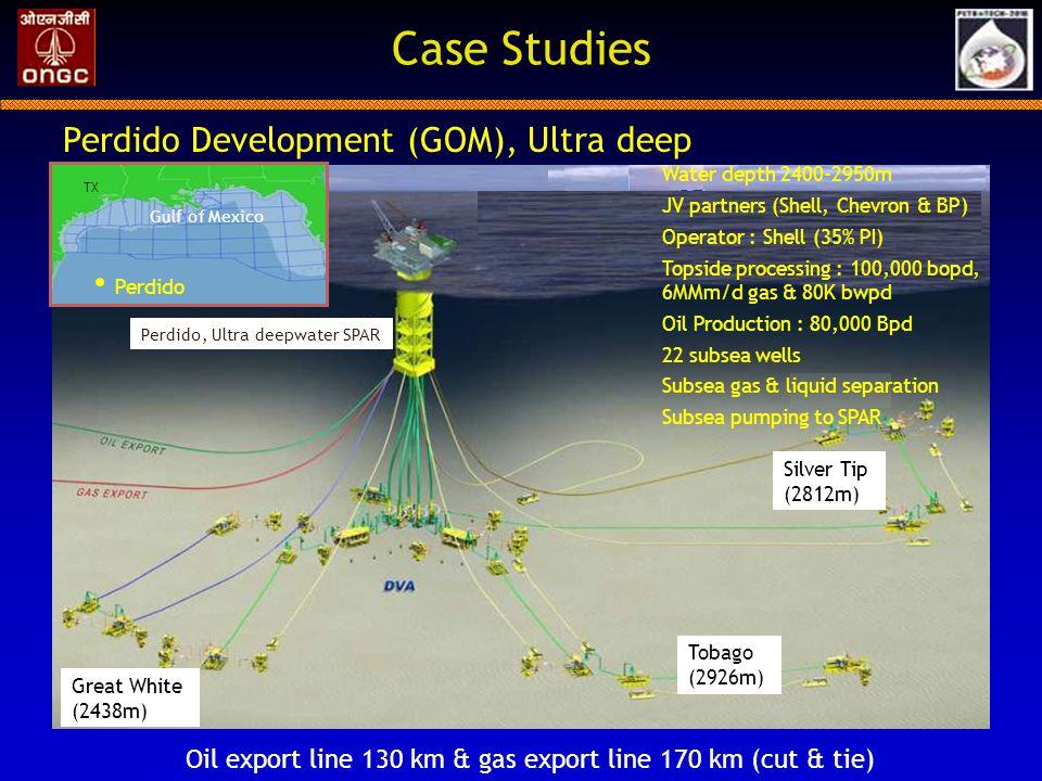 Oil export line 130 km & gas export line 170 km (cut & tie)