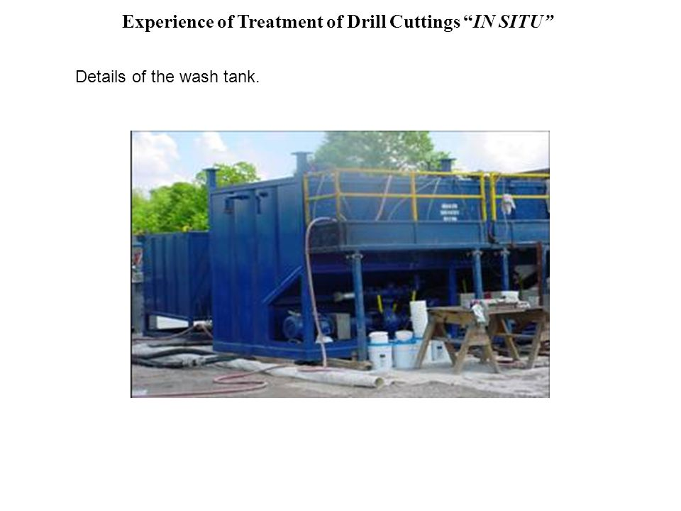 Experience of Treatment of Drill Cuttings IN SITU