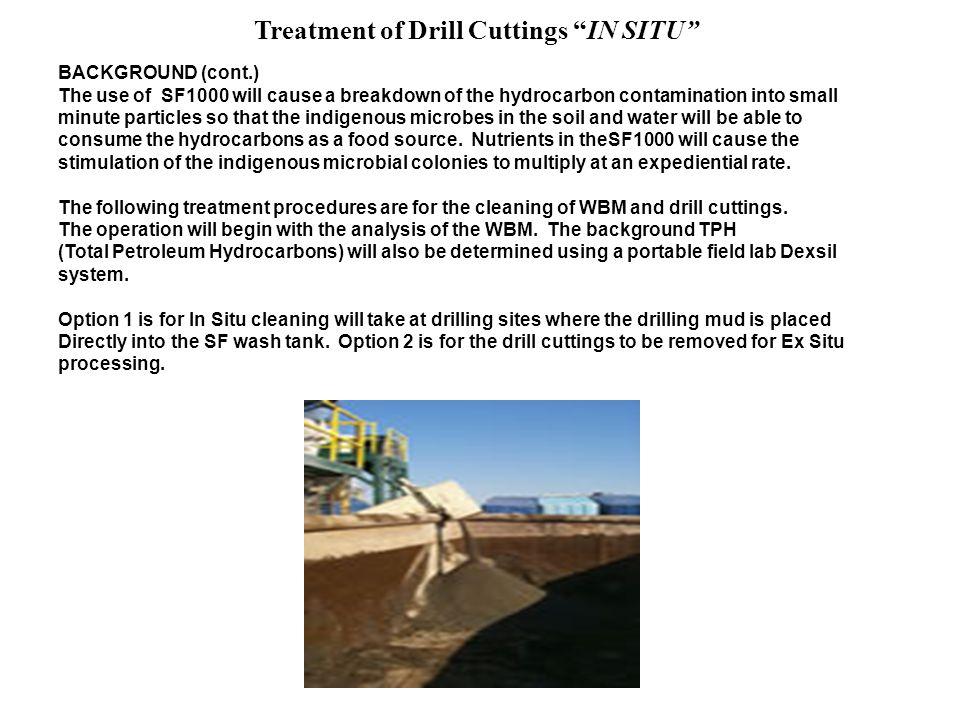 Treatment of Drill Cuttings IN SITU