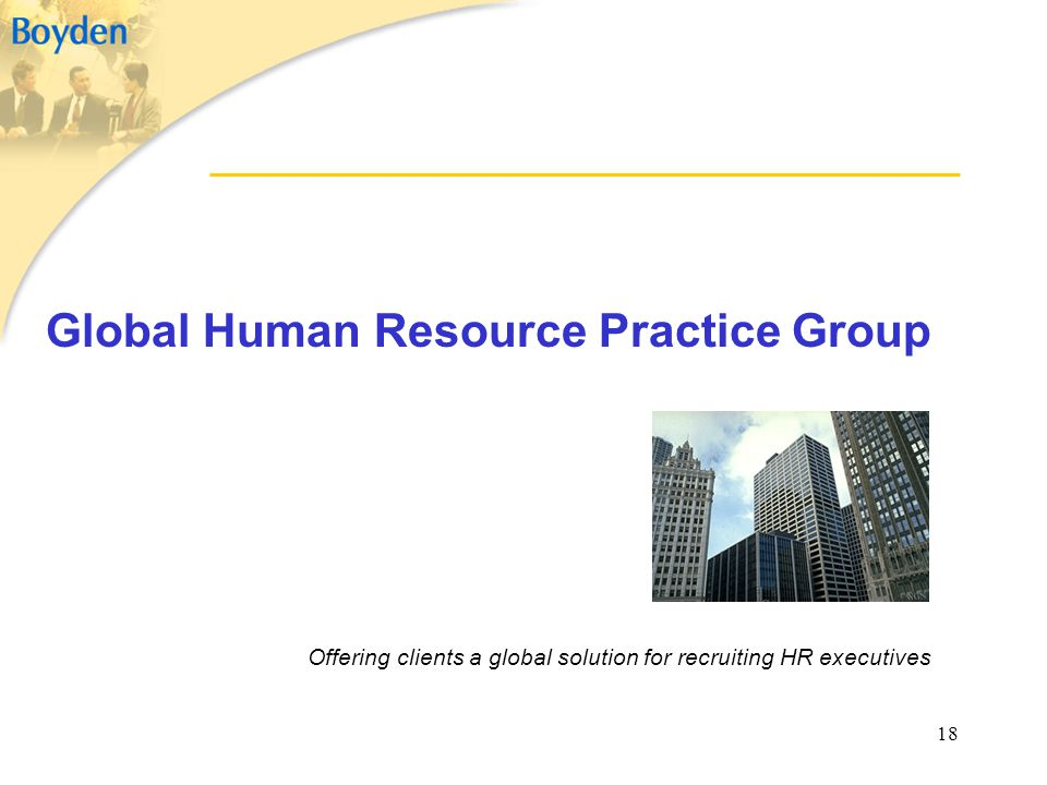 Global Human Resource Practice Group