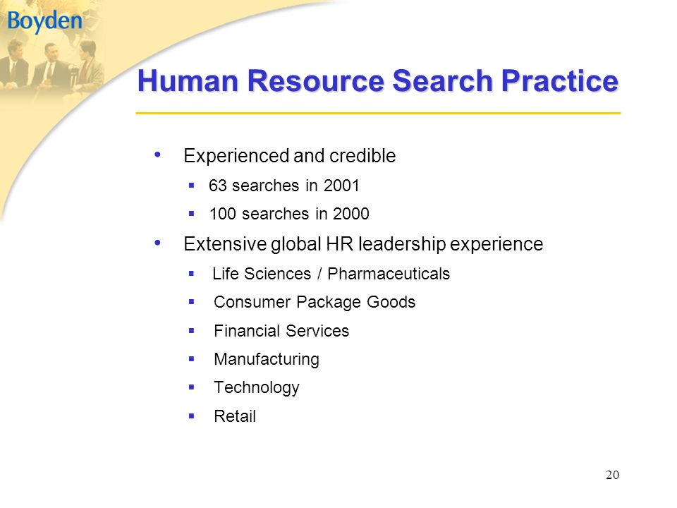 Human Resource Search Practice