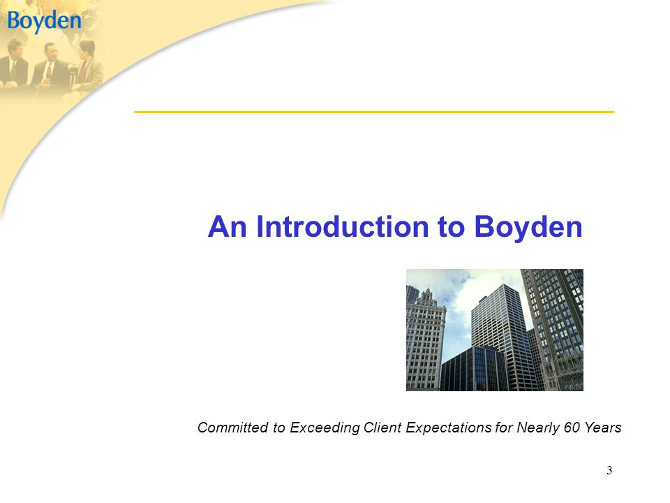 An Introduction to Boyden