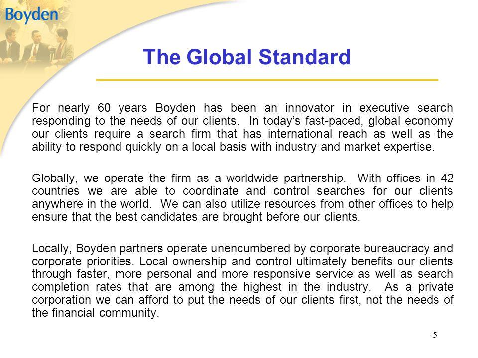 The Global Standard