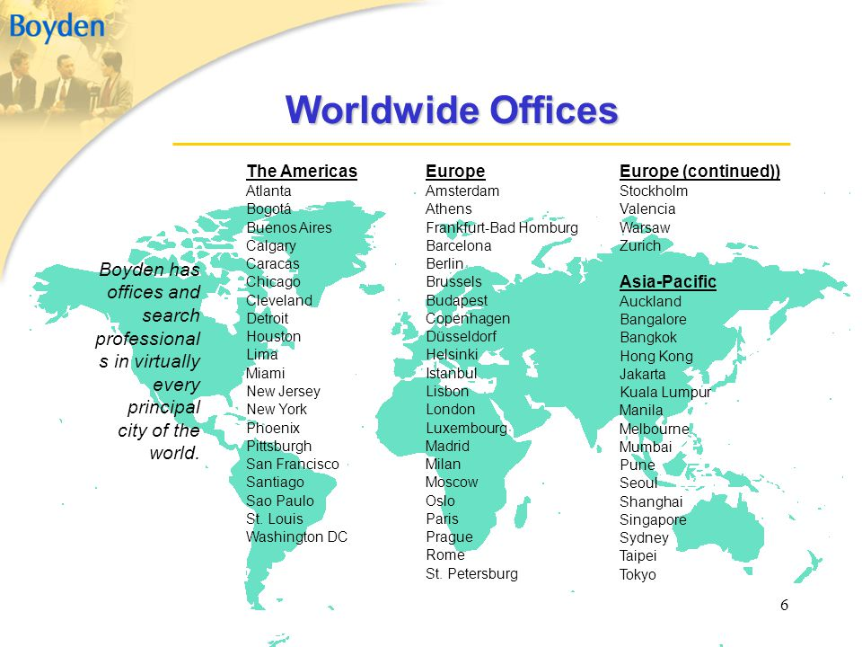 Worldwide Offices The Americas. Atlanta. Bogotá. Buenos Aires. Calgary. Caracas. Chicago. Cleveland.