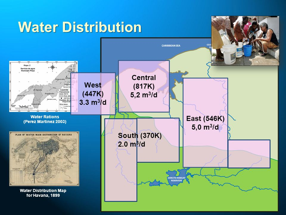 Water Rations (Perez Martinez 2003) Water Distribution Map