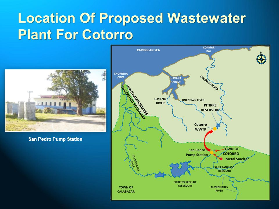 Location Of Proposed Wastewater Plant For Cotorro