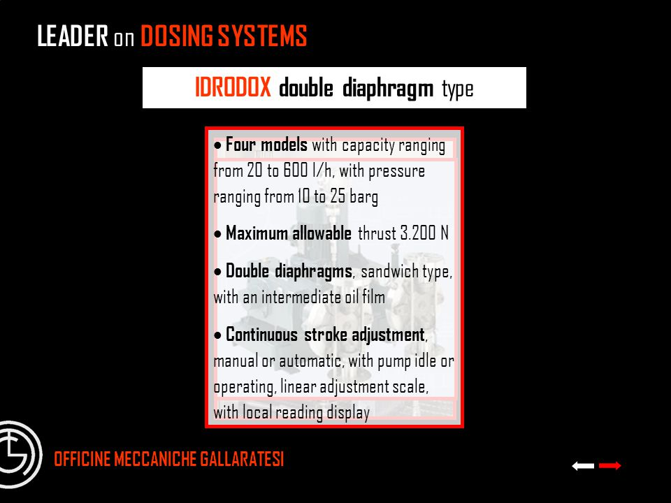 IDRODOX double diaphragm type