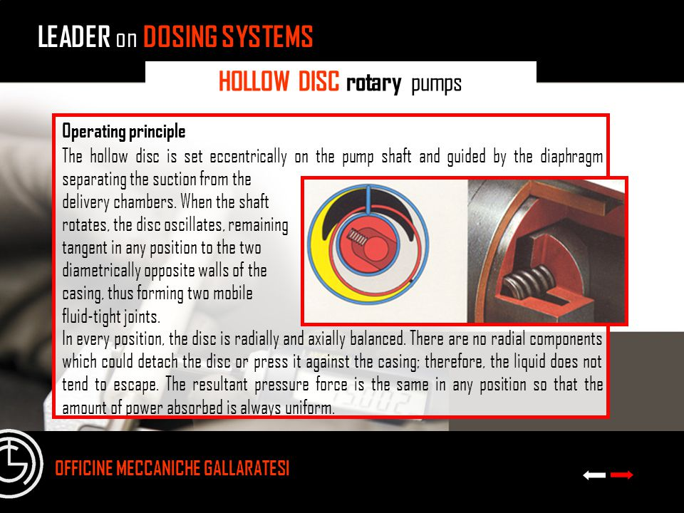 HOLLOW DISC rotary pumps