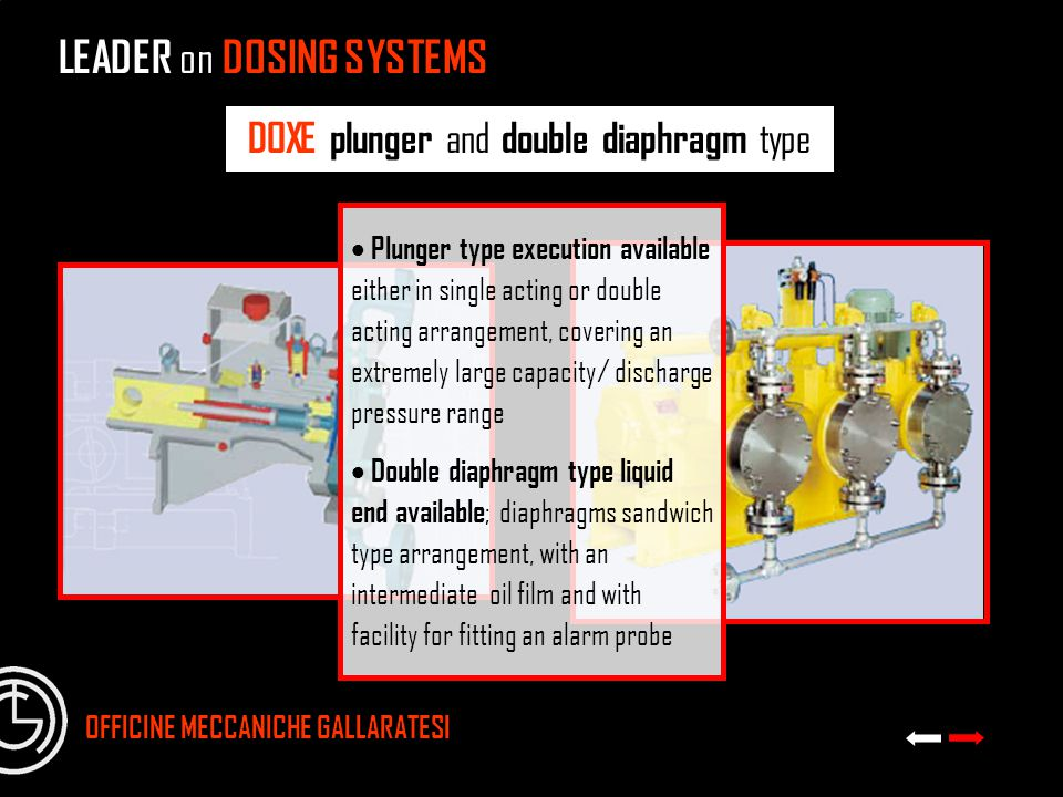 DOXE plunger and double diaphragm type