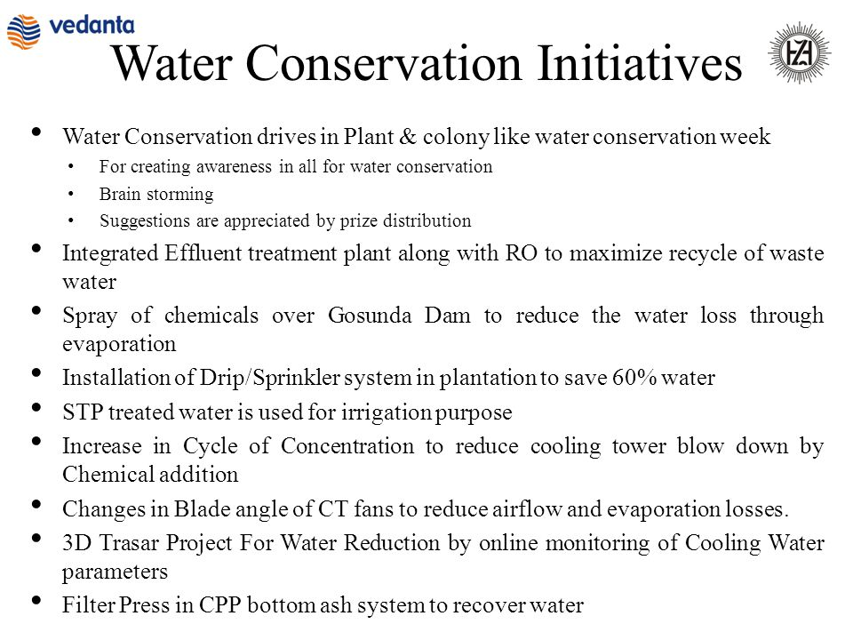 Water Conservation Initiatives