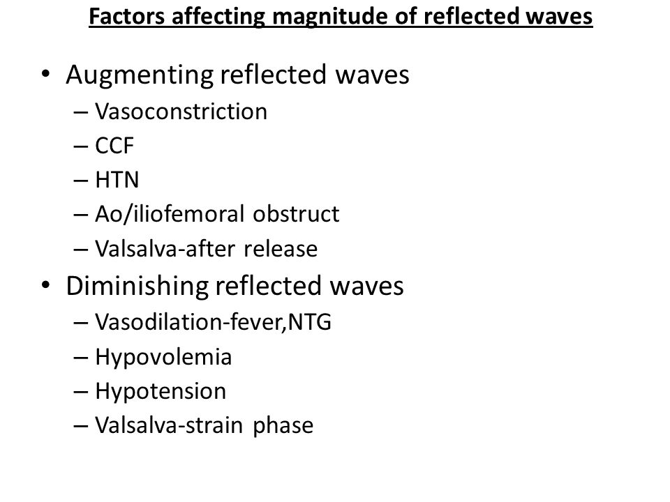 Factors affecting magnitude of reflected waves