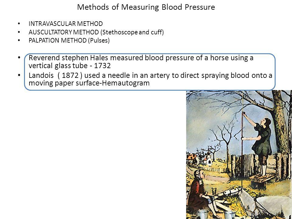Methods of Measuring Blood Pressure