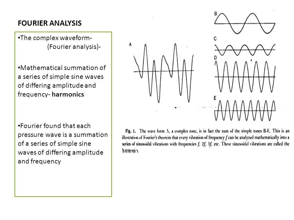 FOURIER ANALYSIS The complex waveform- (Fourier analysis)-