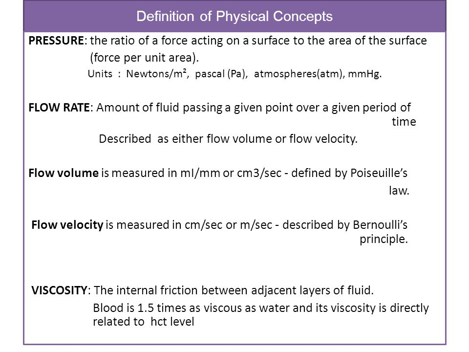 Definition of Physical Concepts