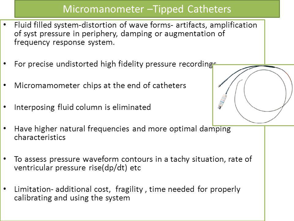 Micromanometer –Tipped Catheters