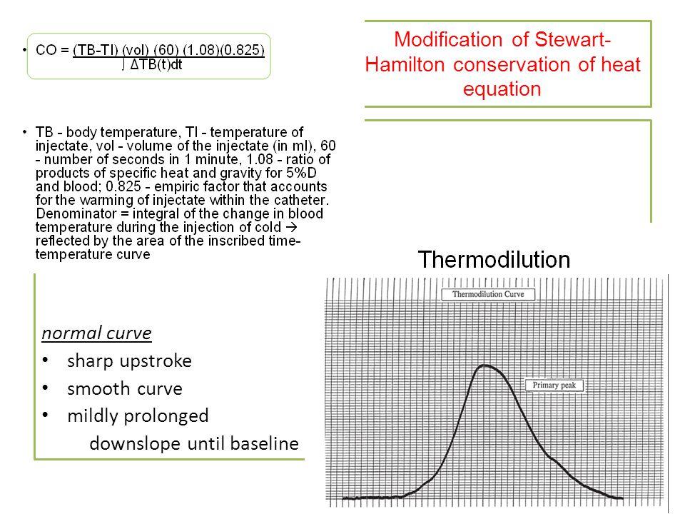 Modification of Stewart-Hamilton conservation of heat equation