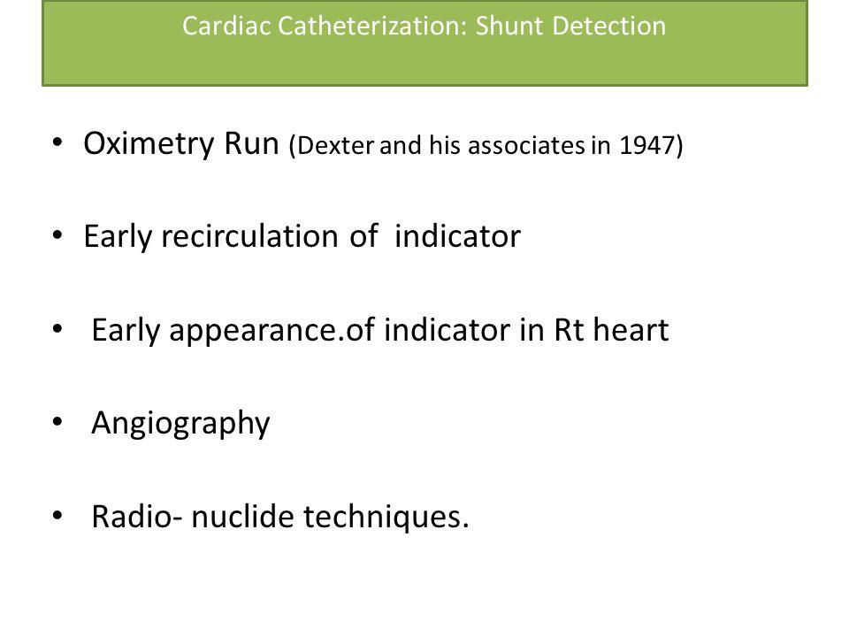 Cardiac Catheterization: Shunt Detection