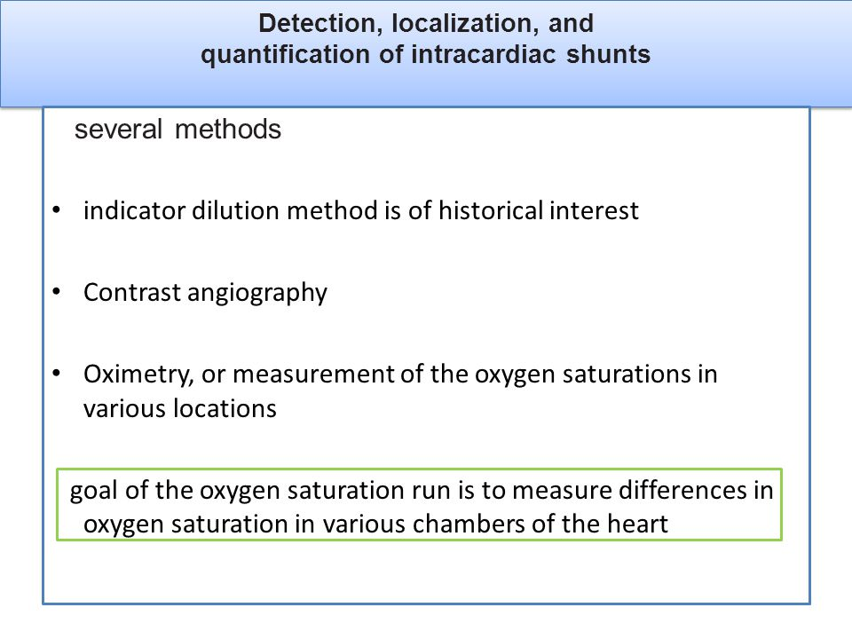 Detection, localization, and quantification of intracardiac shunts