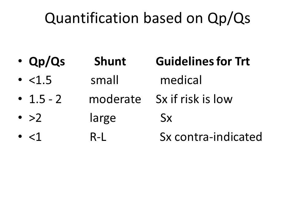 Quantification based on Qp/Qs