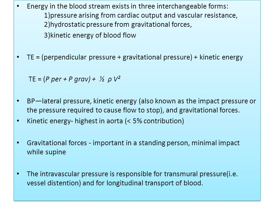 Energy in the blood stream exists in three interchangeable forms:
