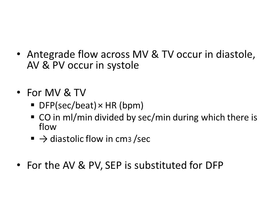 For the AV & PV, SEP is substituted for DFP