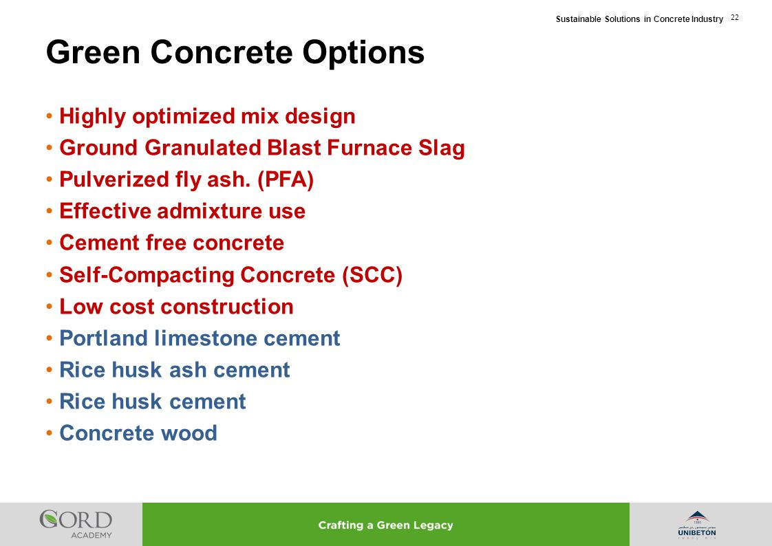 Green Concrete Options