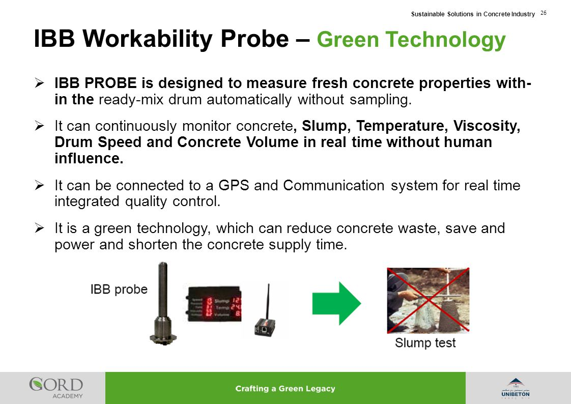 IBB Workability Probe – Green Technology