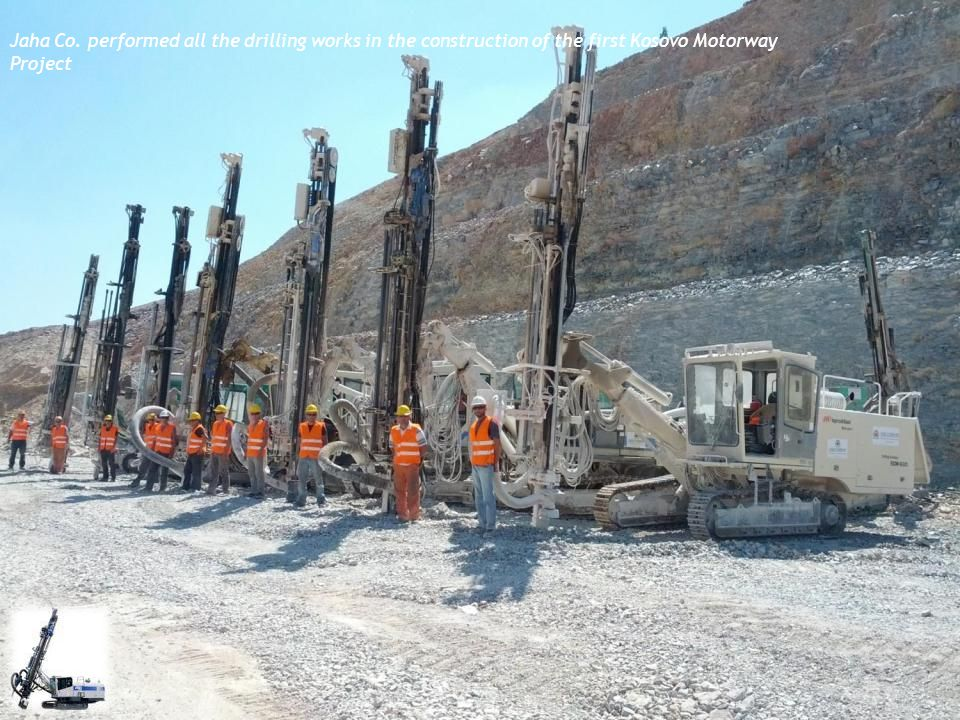 Jaha Co. performed all the drilling works in the construction of the first Kosovo Motorway Project