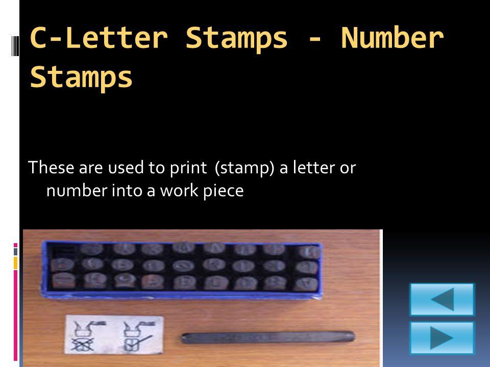 C-Letter Stamps - Number Stamps