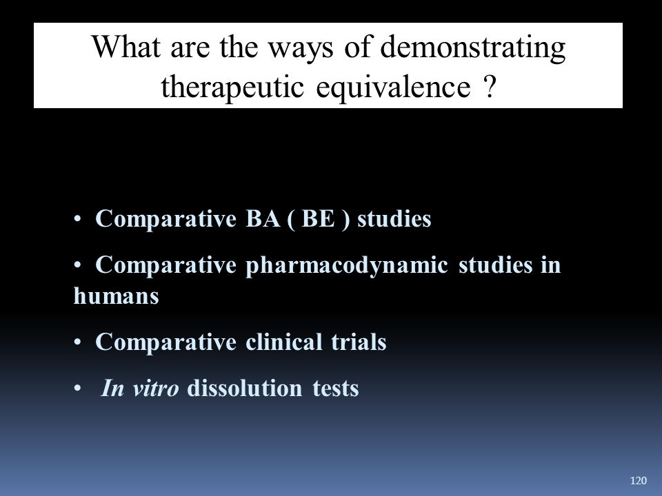 What are the ways of demonstrating therapeutic equivalence