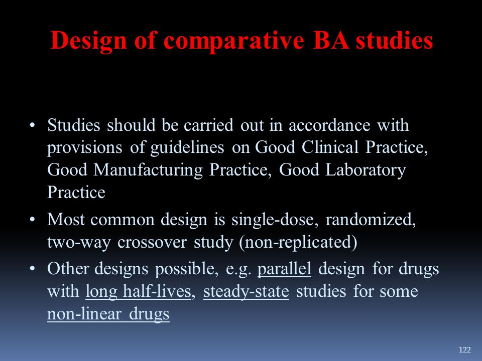 Design of comparative BA studies