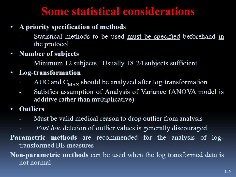 Some statistical considerations