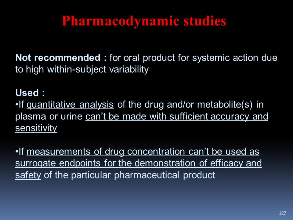 Pharmacodynamic studies