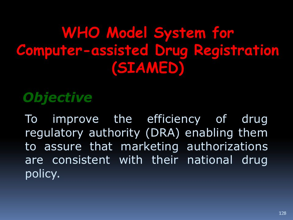 Computer-assisted Drug Registration