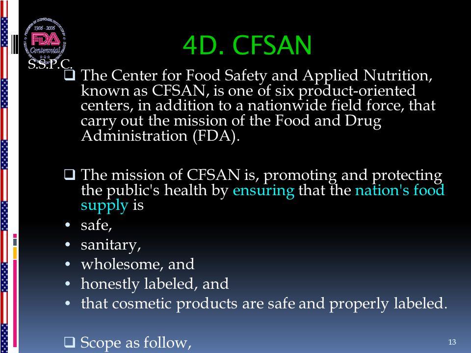 S.S.P.C. 4D. CFSAN.
