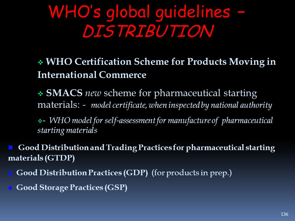 WHO's global guidelines –